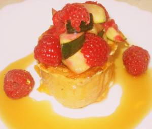 french toast courgettes rasberries