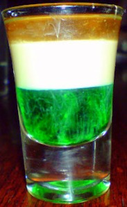 irish flag shot